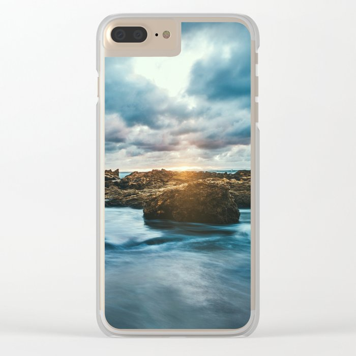 Ocean Rocks Clear iPhone Case