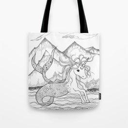 Unicorn Mermaid Tote Bag