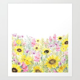 Summer Garden (Sunflower Passion) Art Print