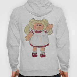 Cabbage Patch Doll on White Hoody