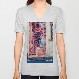 Building Under the Bridge Unisex V-Neck