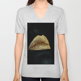 Golden Lips Unisex V-Neck