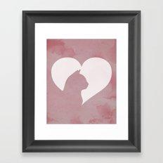 Cat Heart  Framed Art Print
