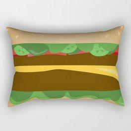 Cheeseburger Rectangular Pillow