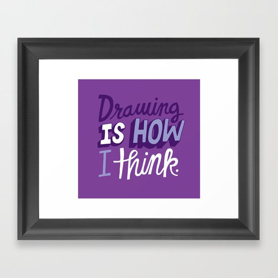 How I Think Framed Art Print