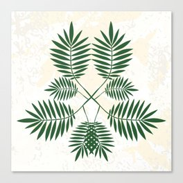 Palm pattern. Canvas Print