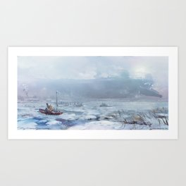 A Ship Called Miloica Art Print