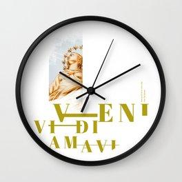 I Came. I Saw. I Loved Wall Clock