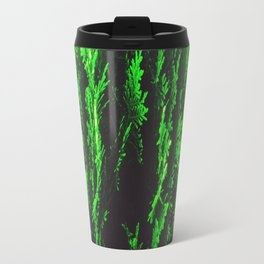 closeup green leaf texture abstract background Travel Mug