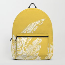 Banana Leaves on Yellow #society6 #decor #buyart Backpack