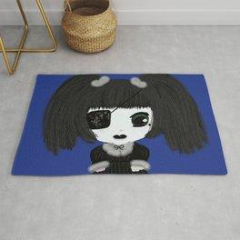 Little Gothic Lolita Kira - Classic (Blue Background) Rug