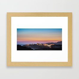 Bonifacio under colors Framed Art Print