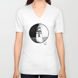 Heceta Lighthouse Unisex V-Neck