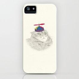 Nelly in the Helicopter Hat iPhone Case
