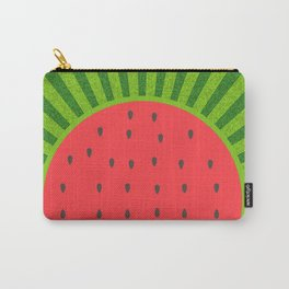 Sweet Summer Watermelon Red & Green Carry-All Pouch