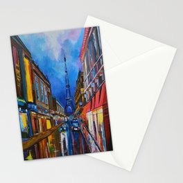 Eiffel Tower Street Stationery Cards