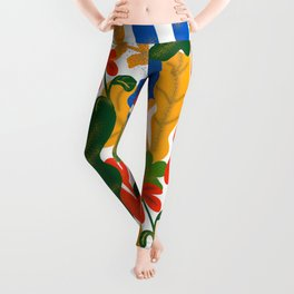 Tropical Flower Pattern II Leggings