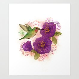 Pollinator Animals- Hummingbird Art Print