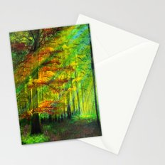 Sunlit trees Stationery Cards