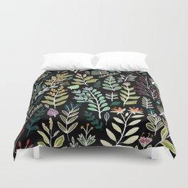 Dark Botanic Duvet Cover