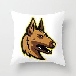 Belgian Malinois Dog Mascot Throw Pillow