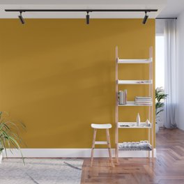 Golden Mustard Solid Color Pairs w/ Sherwin Williams 2020 Trending Color Auric Gold SW6692 Wall Mural