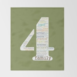 Life Path 4 (color background) Throw Blanket
