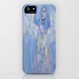 Blue Woman iPhone Case