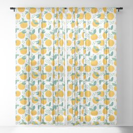 Creative citrus print. Add some vitamins to your life! :) Sheer Curtain