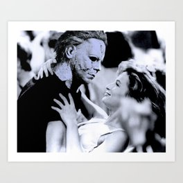 MICHAEL MYERS IN DIRTY DANCING Art Print