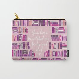 Mr Darcy Quote Bookcase Carry-All Pouch