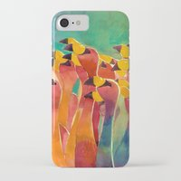 flamingos iPhone & iPod Cases featuring Flamingos by takmaj