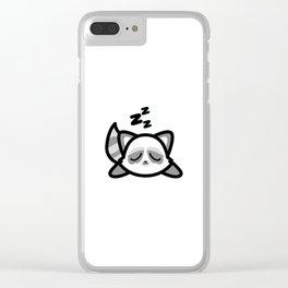 Cute Sleeping Raccoon Kawaii Style Clear iPhone Case
