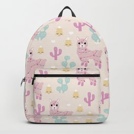 Kawaii Llama christmas wonderland happy holidays Backpack