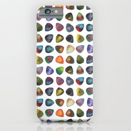Guitar Picks Watercolor iPhone Case