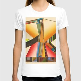 African American Masterpiece 'Janus' abstract landscape painting by E.J.Martin T-shirt