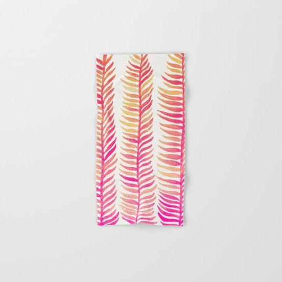 Pink Ombré Seaweed Hand & Bath Towel