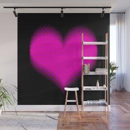Half Tone Comic Love Heart Wall Mural