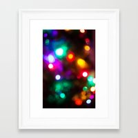 the lights Framed Art Prints featuring Lights by Michelle McConnell