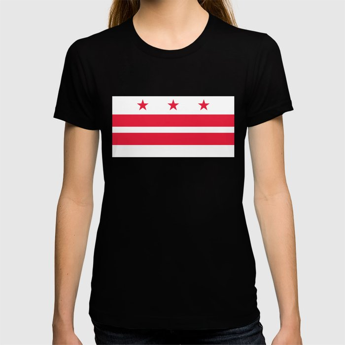 Flag of the District of Columbia - Washington D.C authentic version T-shirt