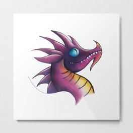 Dragon Purple Metal Print