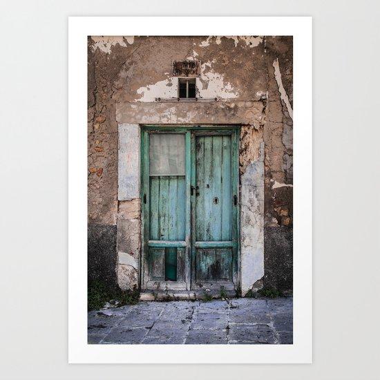 Green Door II Art Print