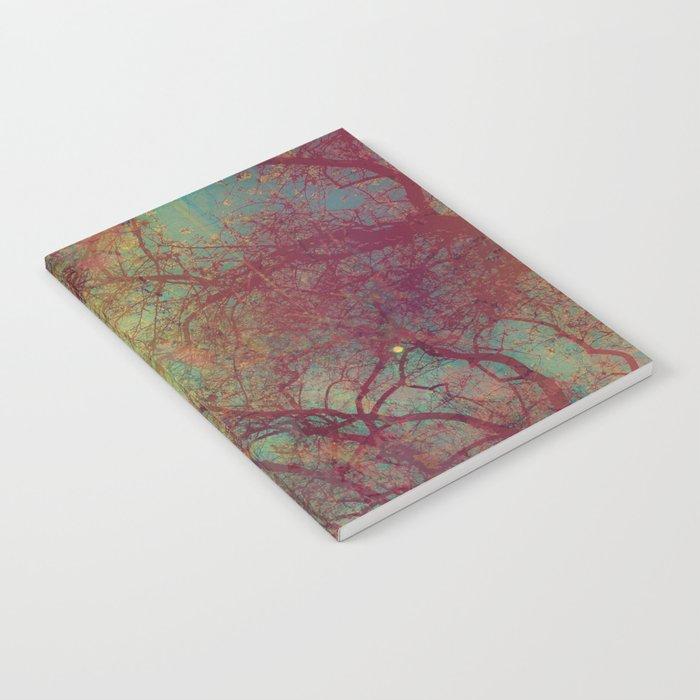 Tree Silhouette, Autumn Sunset Notebook