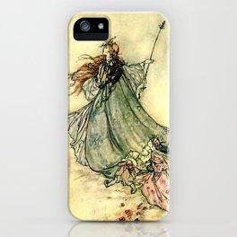 """""""Queen of the Fairies"""" by Arthur Rackham Midsummer's Night iPhone Case"""