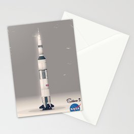 retro Apollo Saturn 5 poster Stationery Cards