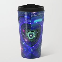 Magic Blue Heart Travel Mug