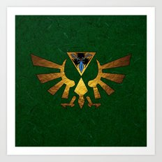 Tri Force of Zelda Art Print