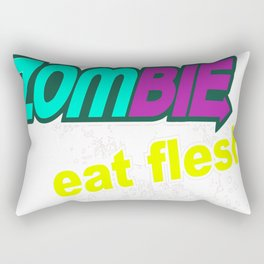 Zombie-Eat Flesh Rectangular Pillow