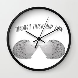 porcupine love Wall Clock