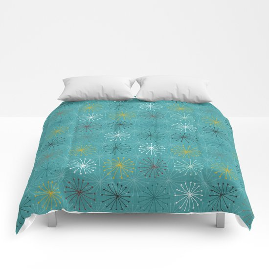 seedheads blue Comforters